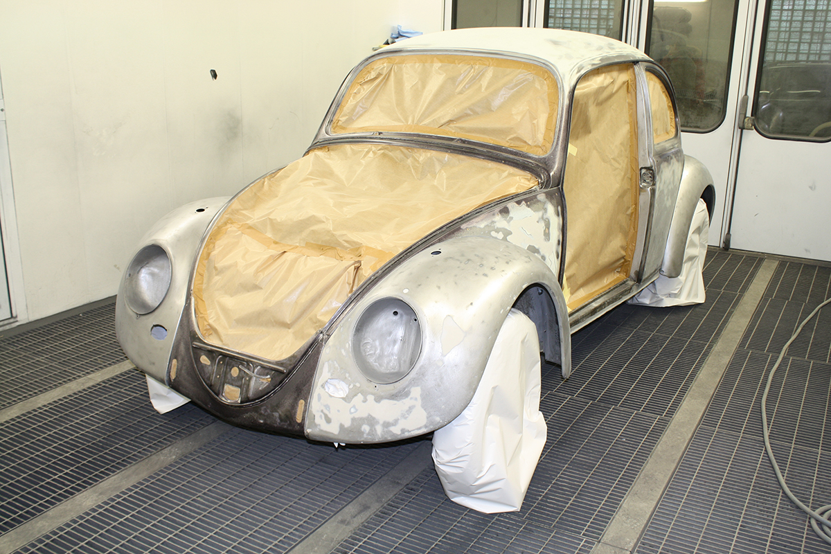 Vw Beetle 1966 - Шаг 2 (Шпаклевка)