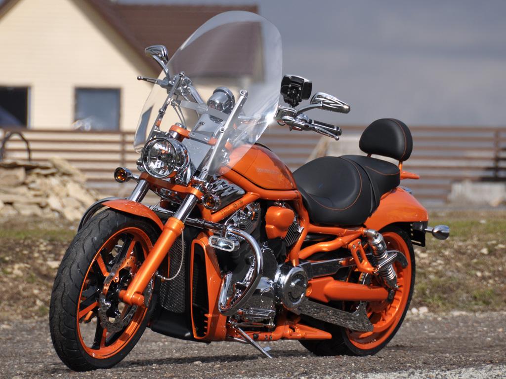 Полная покраска оранжевого Chopper
