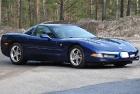 Полная покраска синего Corvette 2005