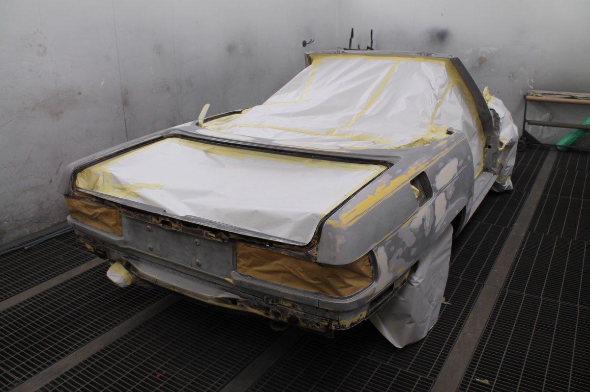 Mercedes SL 1973  - Шаг 2 (Шпаклевка и Грунт)