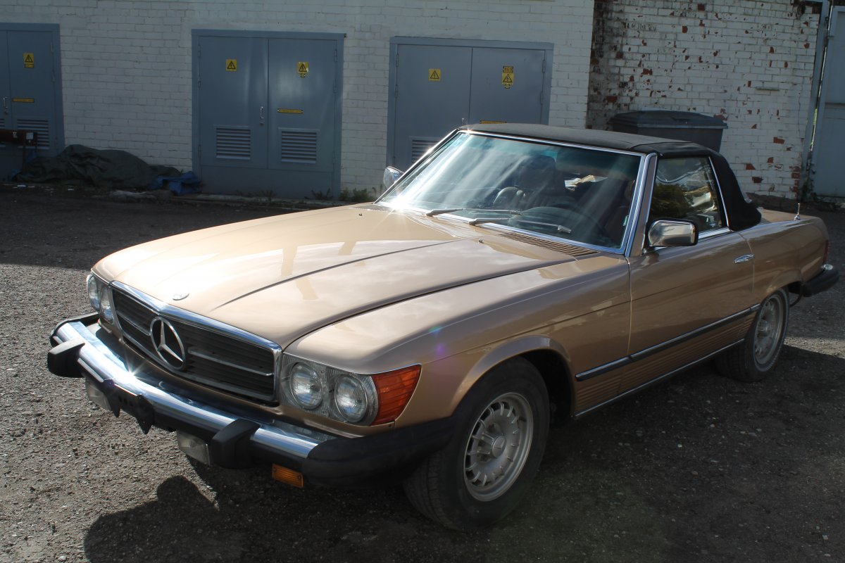 Mercedes SL 1973 - Шаг 4 (Отреставрирована)