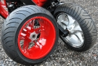 Red Chopper Rims Paint Job