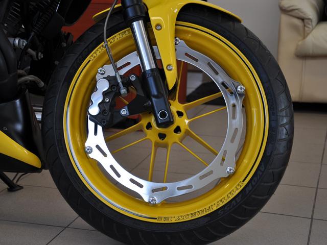 Yellow Chopper Rims Paint Job