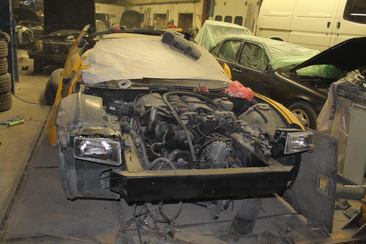 Yellow Corvette Becomes Black - Step 2 (Repair Process)