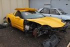 Yellow Corvette Becomes Black - Step 1 (Before Restoration)